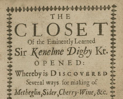 Closet of the eminently learned Sir Kenelme Digby