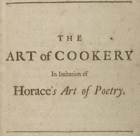 Art of cookery, in imitation of Horace's Art of poetry