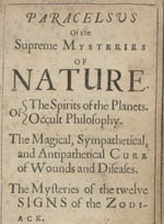 Of the Supreme Mysteries of Nature