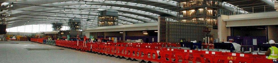 Heathrow Terminal 5 under construction
