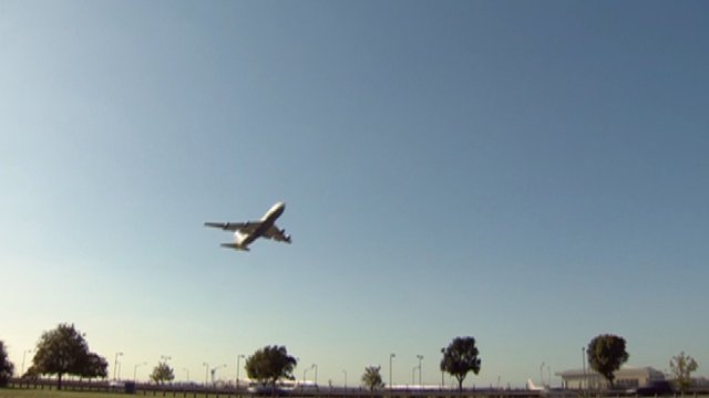 Plane taking off at Heathrow