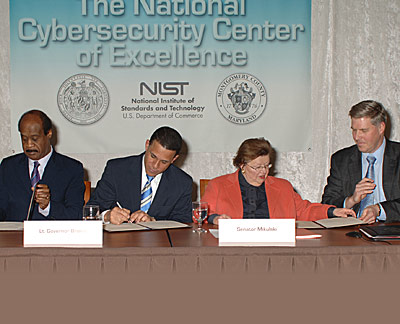 signing of Cybersecurity MOU