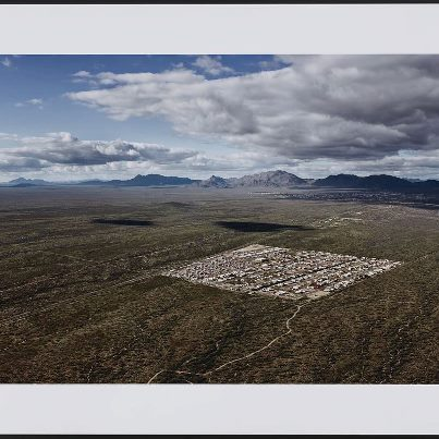 "Photo: Fine art aerial photographer Alex MacLean will discuss his photograph ""Congress, Arizona, 2005"" on display in the exhibition ""Down to Earth: Herblock and Photographers Observe the Environment,"" Tuesday, Jan 15 at noon, Graphic Arts Galleries, Thomas Jefferson Building."