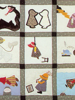 Quilt image -- 'The Sun Sets on Sunbonnet Sue,' courtesy of Tennessee State Library and Archives.