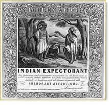 """Patent medicine label for """"Indian Expectorant"""""""