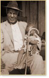 Bob Ledbetter with child on his lap