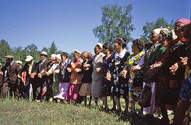 Dancing at the summer solstice festival, Sakha Republic.