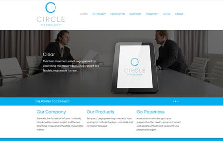 Gravitate portfolio work - Circle Technology
