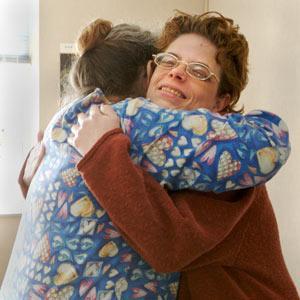 Patient gets a hug