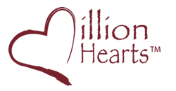 Million Hearts logo.