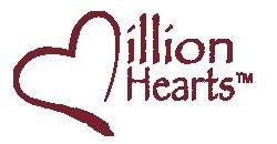 Million Hearts logo.