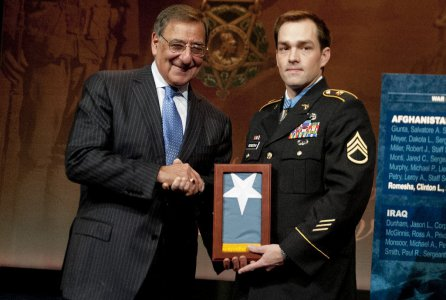 Romesha inducted into Pentagon Hall of Heroes