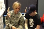 Army Surgeon General meets with double-arm transplant recipient Sgt. Brendan Marrocco