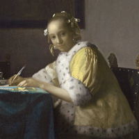 Image: Johannes Vermeer A Lady Writing, c. 1665 Gift of Harry Waldron Havemeyer and Horace Havemeyer, Jr., in memory of their father, Horace Havemeyer 1962.10.1