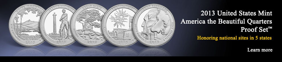 2013 United States Mint America the Beautiful Quarters Proof Set ™ | Honoring national sites in five states | Learn more