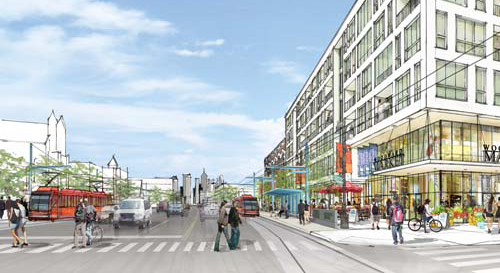 """DOT Unlocks $25 Million for Detroit's Woodward Ave. Streetcar Project """"The M-1 Rail project will truly be a catalyst for bringing new jobs into downtown, Midtown, and the New Center area."""" –Peter Rogoff"""