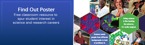 Find Out Poster: Free classroom resource to spur student interest in science and research careers