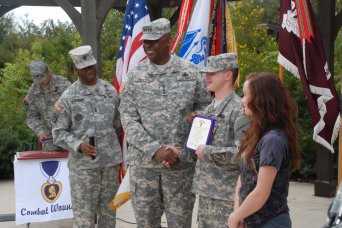 Gen. Austin awards Purple Heart at BAMC