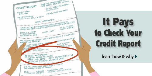 It pays to check your credit report