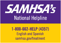 SAMHSA National Helpline 1-800-662-4357