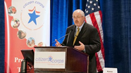 Craig Fugate speaking at a podium during a Citizen Corps function.