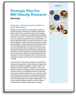 The Strategic Plan for NIH Obesity Research Summary