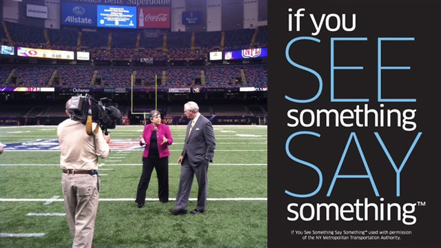 If You See Something Say Something Campaign at the Mercedes-Benz Superdome, New Orleans