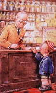 """""""A Box Of Pills, Please."""" """"Antibilious?"""" """"No, But Uncle Is!"""""""