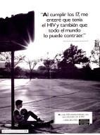 """""""Al cumplir los 17, me entere que tenia el HIV y tambien que todo el mundo lo puede contraer"""" Peter Zamora, con resultados positivos del HIV."""