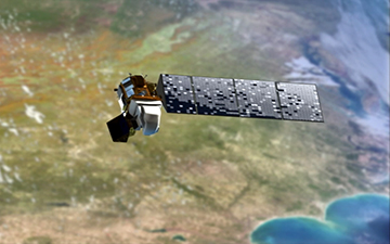 Artist's concept of NASA's Landsat Data Continuity Mission (LDCM) in orbit. Image Credit: NASA