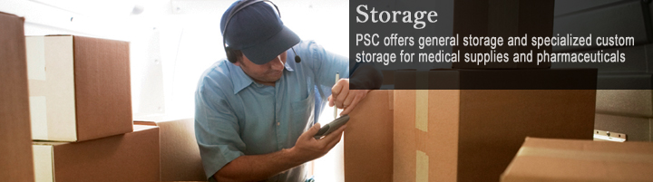 Storage, PSC offers general storage and specialized custom storage for medical supplies and pharmaceuticals.