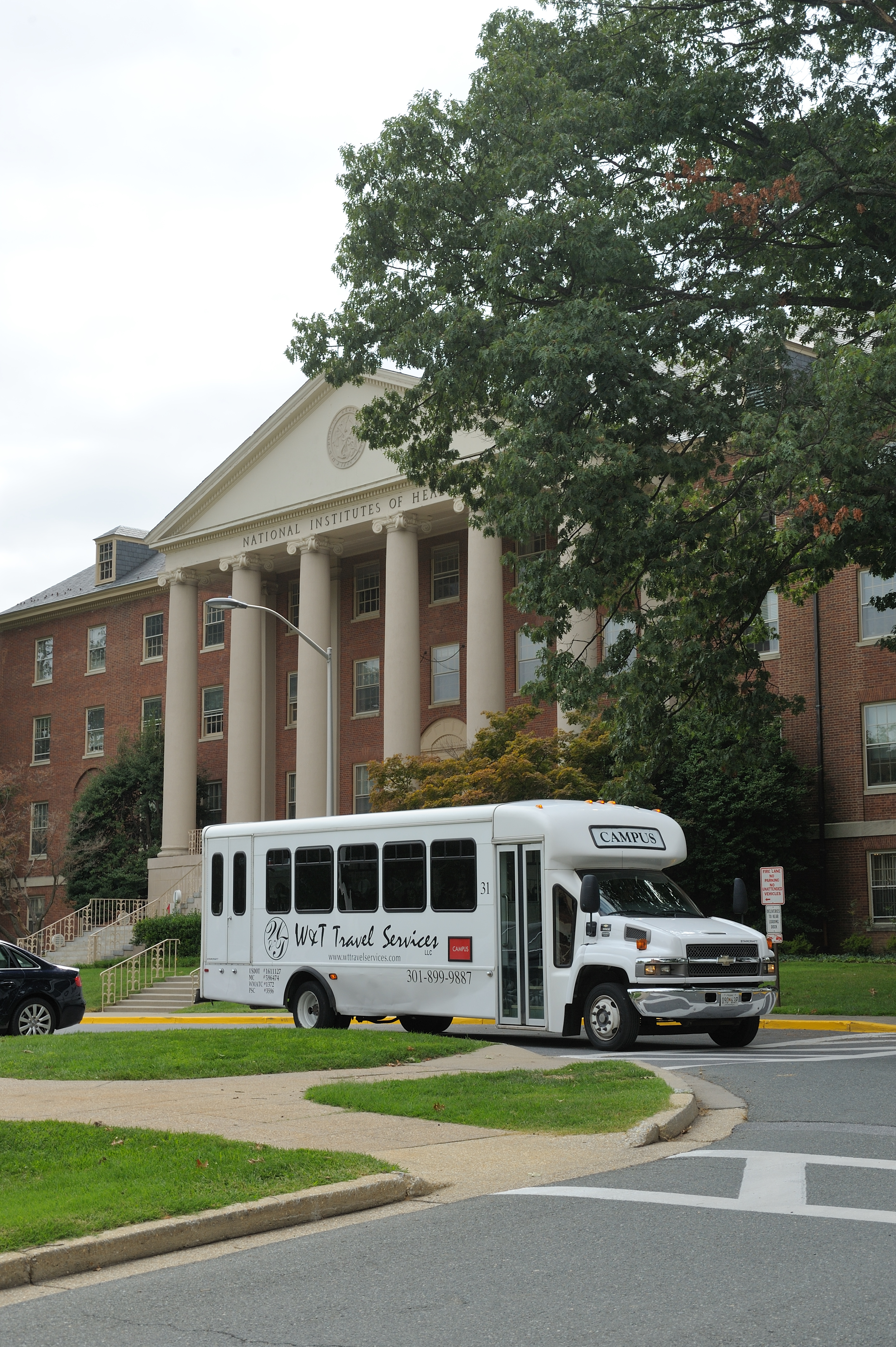 NIH Shuttle in front of Building One