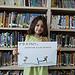 Sophia Morlet, kindergartener from Butteville Elementary School displaying her winning entry in the ÒItÕs a FactÓ poster contest in Siskiyou County.