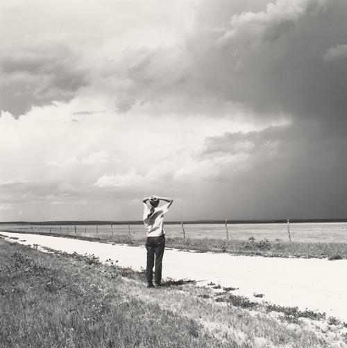 Image: Robert Adams, American, born 1937 Kerstin enjoying the wind, East of Keota, Colorado, 1969 gelatin silver print National Gallery of Art, Washington, Pepita Milmore Memorial Fund and Gift of Robert and Kerstin Adams