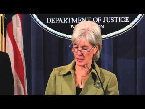 HHS Secretary Sebelius and US Attorney General Holder announce a takedown by Medicare Fraud Strike Force operations in eight cities resulting in charges against 91 defendants for their alleged participation in Medicare fraud schemes involving approximately $295 million in false billings, the highest amount in Strike Force History.