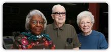 Three senior friends