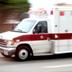 Photo of a speeding ambulance.