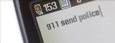 Mobile phone calling 911