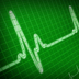 Photo of electrocardiogram showing a heart pulse.