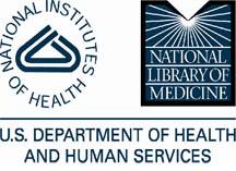 HHS, NIH, NLM logos