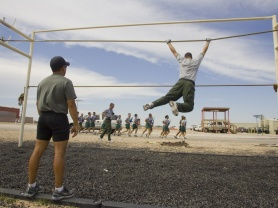 Training at the National Border Patrol Academy.