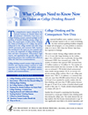 What Colleges Need to Know Now An Update on College Drinking Research