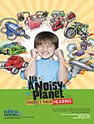 Noisy Planet poster, cartoon (11″ x 17″