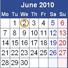 Calender Image of June 2010
