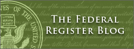 The Federal Register Blog