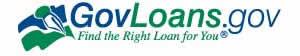 Logotipo de Govloans.gov en inglés