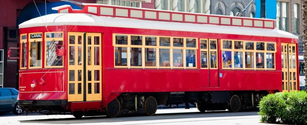 Photograph of Canal Streetcar line in New Orleans