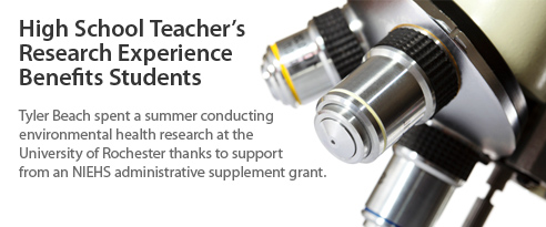 High School Teacher's Research Experience Benefits Students