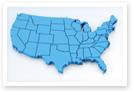 Esta es una imagen del mapa de los Estados Unidos.