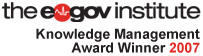 E-Gov Institute Knowledge Management Award Winner for 2007